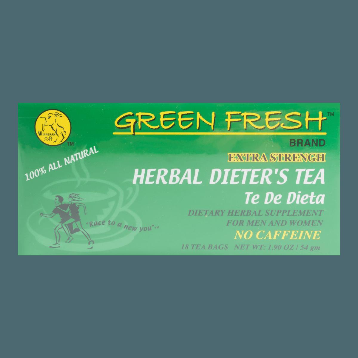 大洋 GREEN FRESH 强效中草药无咖啡因减肥茶 18包入 54g 怎么样 - 亚米网