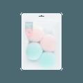 名创优品Miniso 糖果时光 海绵卷发球 4个装