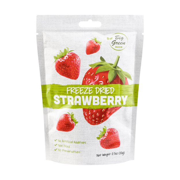 Product Detail - BIG GREEN Freeze Dried Strawberry 20g - image 0