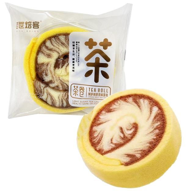 商品详情 - 【临保促销 Exp: 2021/02/01】百世焙客 茶卷 阿萨姆奶茶味蛋糕 1枚装 - image  0