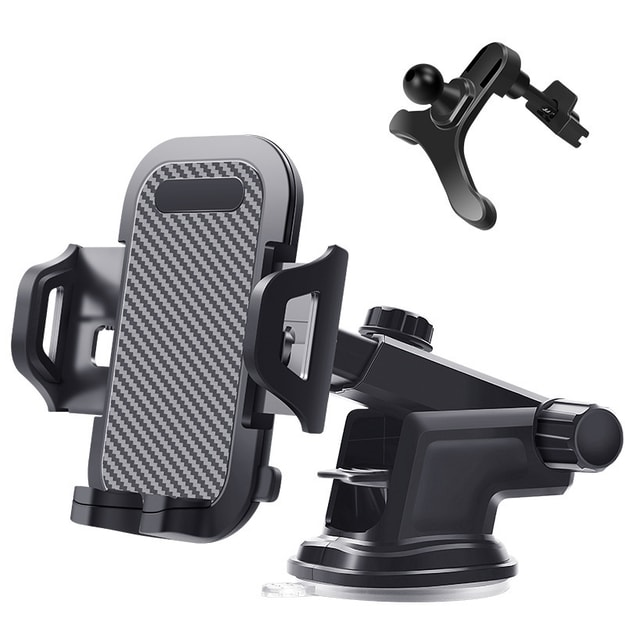 Product Detail - RAMBLE Universal Adjustable 360 Rotatable Car Mount Mobile Phone Holder Cell Phone Bracket Stand Car Interior - image 0