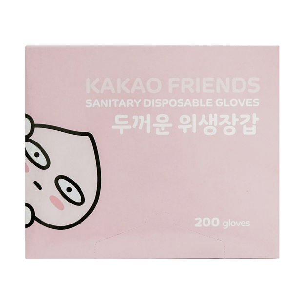 Product Detail - Korean KAKAO Friends Sanitary Disposable Plastic Glove One Size 200pcs - image 0