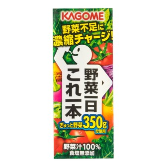 KAGOME 100% Vegetable Juice 200ml