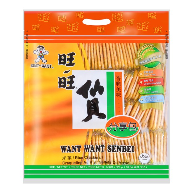 Product Detail - WANT WANT Senbei Rice Crackers 520g - image 0