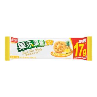 嘉士利 果乐果香 果酱味夹心饼干 凤梨口味 93g+17g