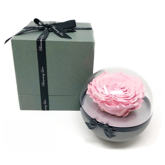 Product Detail - BLOSSOMING LOVE SEE-THROUGH FLOWER BALL PINK ROSE - image 0