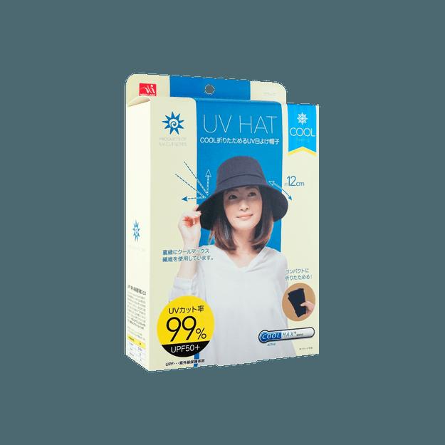 商品详情 - 日本UV CUT 可折叠式冷感防晒遮阳帽 抗UV 黑色 - image  0