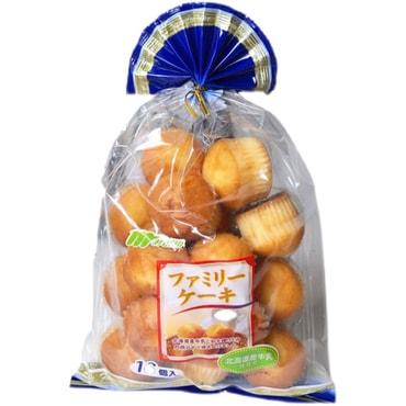 日本进口 北海道牛乳迷你小蛋糕 家庭装 280g 一袋16个