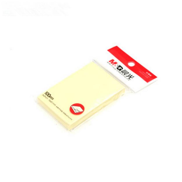 商品详情 - [中国直邮]晨光M&G黄色便签本 自粘 便利贴76×51mm 100张 YS-02 2本装 - image  0