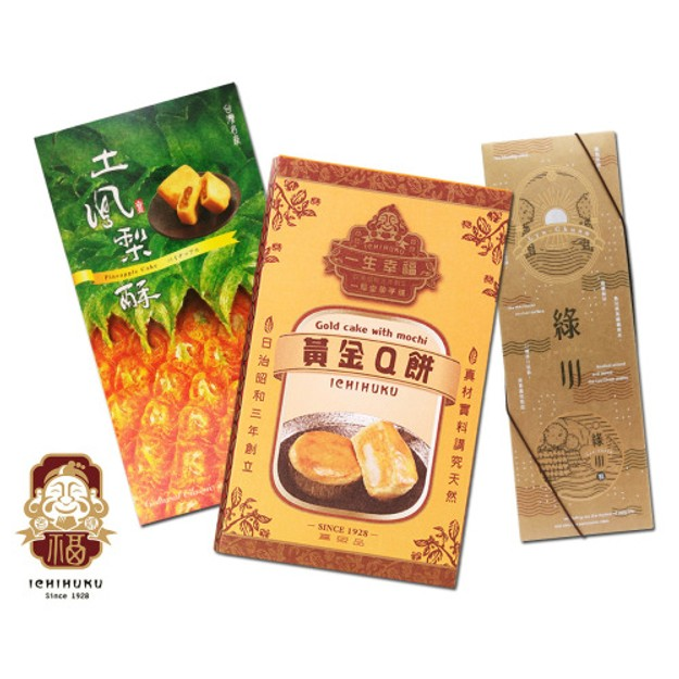 Product Detail - [Taiwan Direct Mail] IFUTANG Mochi Q Cake Pineapple cake Lyu-Chuan cake(Mung bean/Matcha)Set *Limited Edition* - image 0