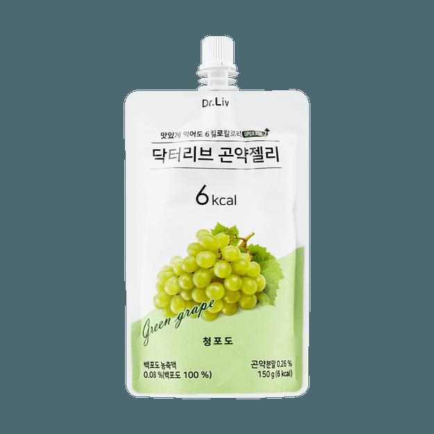 商品详情 - 韩国DR.LIV 低糖低卡蒟蒻果冻 绿葡萄味 150g - image  0