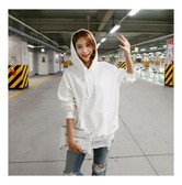 KOREA MAGZERO Oversized Pullover Hoodie White One Size(Free) [Free Shipping]
