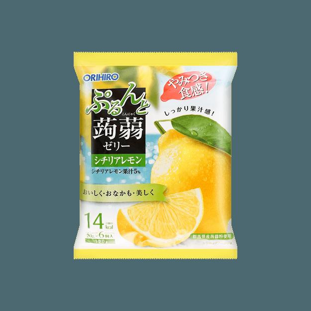 商品详情 - 日本ORIHIRO 蒟蒻果冻 柠檬味 120g 6枚入 - image  0