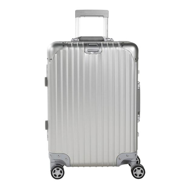 商品详情 - 苏宁极物 全铝镁合金金属万向轮拉杆箱 20寸 银灰色 - image  0