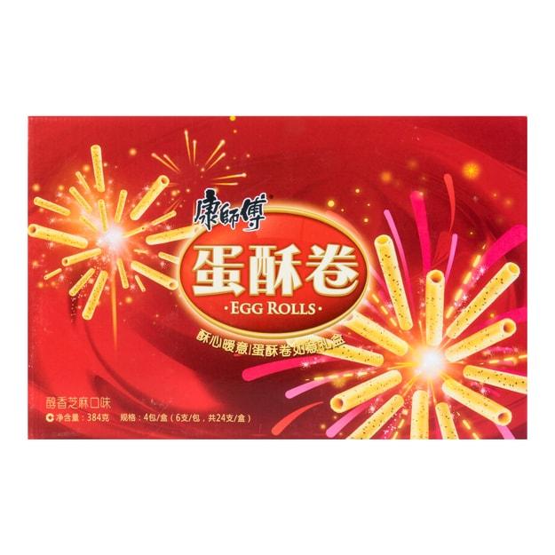 商品详情 - 康师傅 蛋酥卷 醇香芝麻口味 礼盒装 384g - image  0