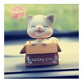 RAMBLE Car Cartoon Cute Cat Shaking Head Decorations Lucky Cat kt Cat Pet Creative Car Interior Products Cat A Style-1pc