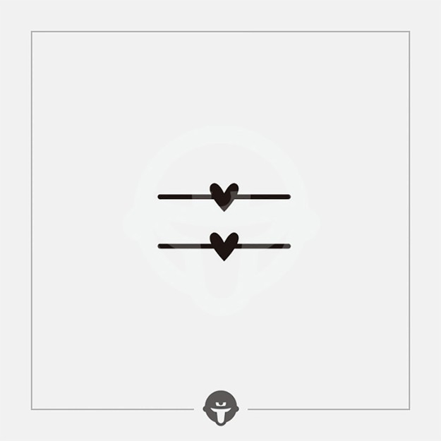 商品详情 - 再变@become 原创纹身贴 戒指心 三张 - image  0