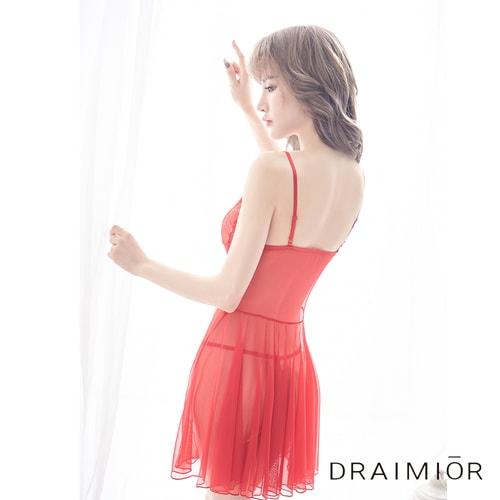 52f9242449 Draimior Lace split strap nightdress Red S - Yamibuy.com