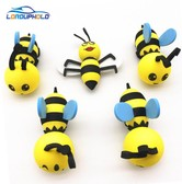 LORDUPHOLD Bee Antenna Ball Decorative Car Roof Sticker Universal Cute Cartoon Antena Topper 1 Set 5 pcs