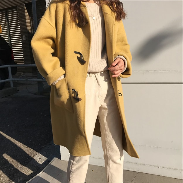 Product Detail - PRINSTORY 2019 Fall/Winter Korean Style Wool Coat - image 0