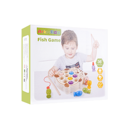 BeebeeRun 木制玩具儿童小猫钓鱼组合玩具 10件入 3岁以上 JHTOY-0095