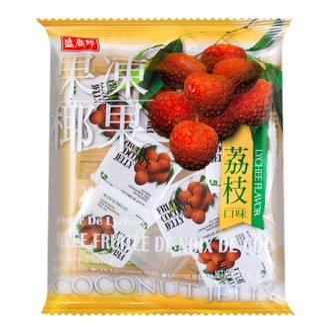 台湾盛香珍 夏日风情荔枝椰果果冻 280g