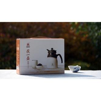 FU TEA Fu Yi Hu Gift Box One JingWeiFu Tea Thermo Jug+two Cups+Pieces Fu Tea 280g