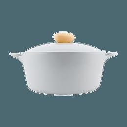 "Retro Nonstick Cast Aluminum Ceramic Coating Stock Pot Soup Pot Gray 10"" (26 cm)"