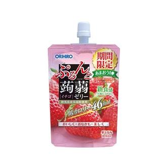 日本ORIHIRO 低卡纤体蒟蒻果冻 草莓味 130g 期间限定