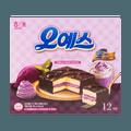 韩国HAITAI海太 黑森林蛋糕 紫薯味 12枚入 360g