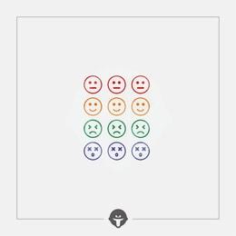 @BECOME Original Tattoo Stickers Colorful expression Three Piece