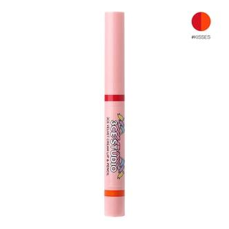 韩国3CE STUDIO 双头丝绒唇膏笔+染唇液 #KISSES 3.2g+0.2g