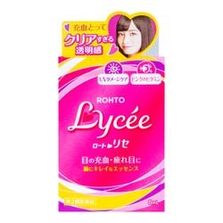 日本ROHTO乐敦 LYCEE 粉红小花 眼药水 8ml  缓解眼疲劳