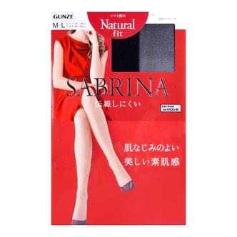 GUNZE SABRINA Natural Fit Stock #026 Black M-L 1pc