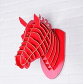 Horse Wall Décors Raspberry Red