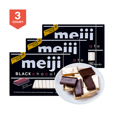 MEIJI Black Chocolate 26 blocks * 3