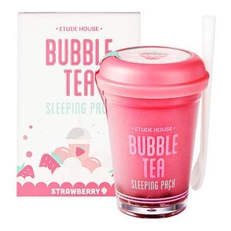 韩国ETUDE HOUSE伊蒂之屋(爱丽小屋) 珍珠奶茶睡眠面膜 透润草莓 100g