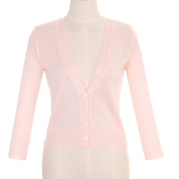ATTRANGS Cardigan Pink free size