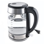 AROMA 1.7L Glass Electric Kettle with Temperature Dial (5 Year Manufacturer Warranty)