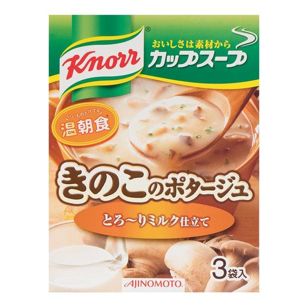 商品详情 - 日本AJINOMOTO 菌菇蔬菜浓汤汤料 3袋入 42.9g - image  0