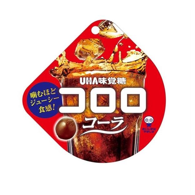 商品详情 - 【日本直邮】DHL直邮3-5天到 UHA悠哈味觉糖 全天然果汁软糖 期限限定 可乐味 40g - image  0