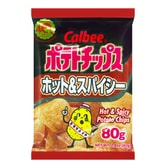 CALBEE Hot & Spicy Potato Chips 80g