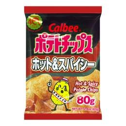 CALBEE Hot & Spicy Potato Chips 80g