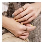 KOREA MAGZERO Vintage Gold 3 Pieces Set Metal Rings [Free Shipping]
