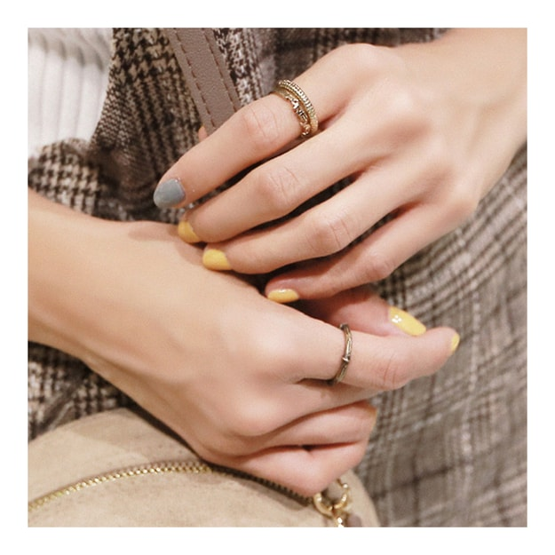 Product Detail - KOREA MAGZERO Vintage Gold 3 Pieces Set Metal Rings [Free Shipping] - image 0