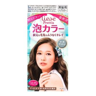日本KAO花王 LIESE PRETTIA 泡沫染发剂 #Cool Ash白金浅驼色 单组入 COSME大赏第一位