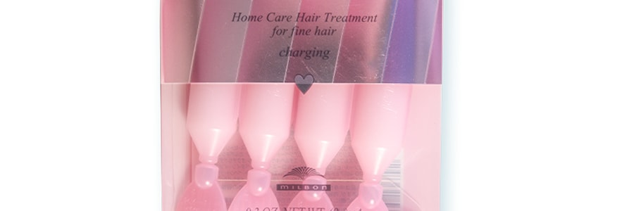 MILBON JEMILE FRAN Hair Charging Treatment Pink Heart 9g x4pcs