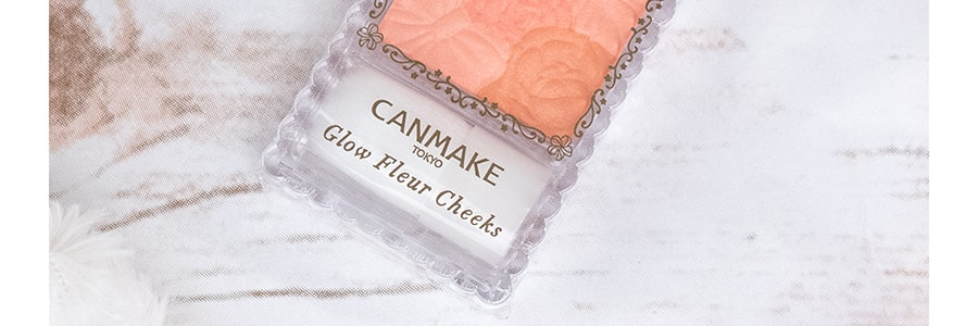 CANMAKE Glow Fleur Cheeks with Brush 03 Fairy Orange Fleur 6.3g