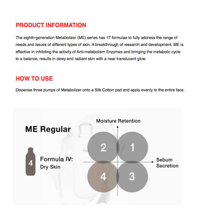 Image result for IPSA Metabolizer Regular Lotion #4ForDrySkin 175ml