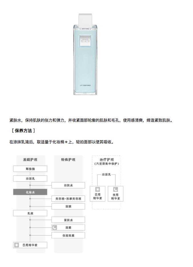 日本THE GINZA 紧致化妆水 200ml